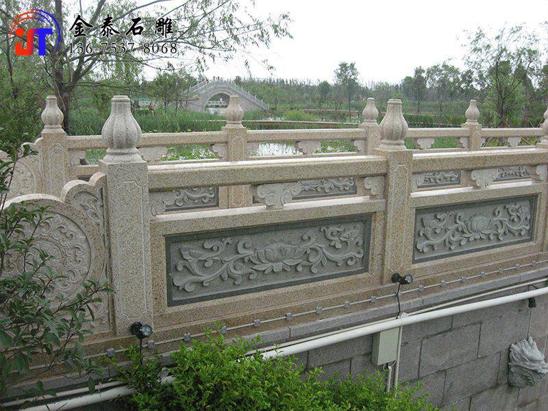 批发河道石材栏杆 石雕护河栏杆定制(图4)