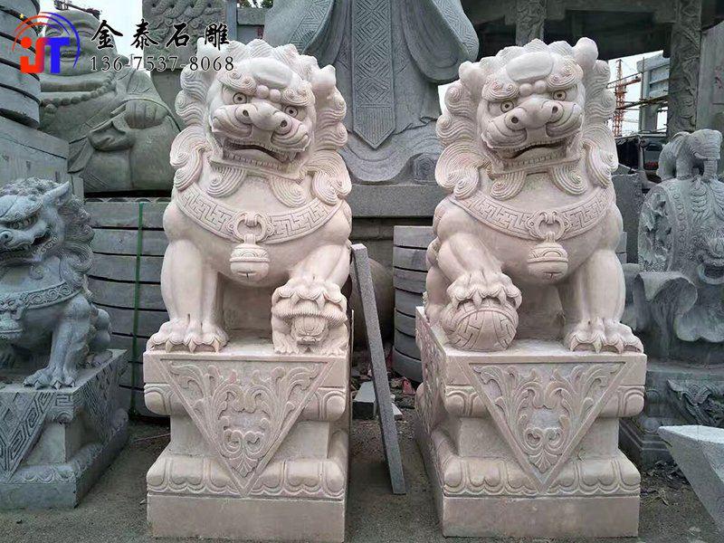 祠堂门前石雕狮子寓意(图1)